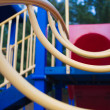 Climbing ladder at a childs playground. - Stock Photo