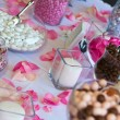 Wedding Reception Candy Table. - Stock Photo