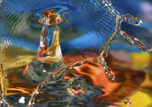 Colorful and Creative Water Drop Creations — Stock Photo