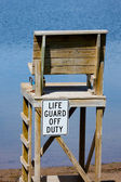Life Guard off Duty chair — Stock Photo