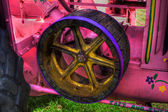 HDR image of the side of a vintage farm tractor. — Stock Photo