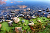 HDR of a Rocky River Bank — Stock Photo