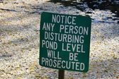 Do not disturb pond level. — Stock Photo