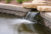 Beautiful Park waterfall — Stock Photo