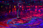 Colorful Macro Photography ofWater Drops. — Stock Photo