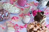 Wedding Reception Candy Table. — Stock Photo