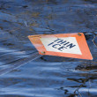 Thin Ice sign - Stock Photo