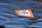 Thin Ice sign — Foto Stock