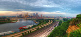 Cityscape panorama of St. Paul Minnesota — Stock Photo
