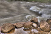 Rocky River Rapids in HDR — Stock Photo