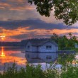 Panorama of a sunrise on a lake — Stock Photo #6038009