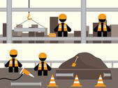 Workmen Banners — Stock Vector
