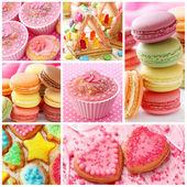 Barevné koláče — Stock fotografie