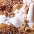 Various kinds of sugar - Foto Stock