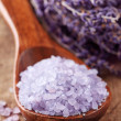 Lavender spa with sea salt - Stock Photo