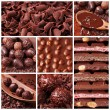 Chocolate collage — Stock Photo #5445201