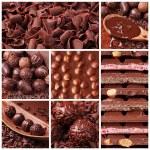 Chocolate collage — Stock Photo