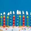 narozeninové svíčky — Stock fotografie