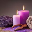 Spa still life with candles — Stock Photo