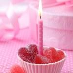 roze kaars — Stockfoto
