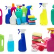 Stock Photo: Colored plastic bottles