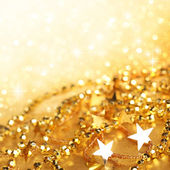 Gold abstract holiday lights — Foto Stock