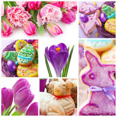 Easter collage — 图库照片