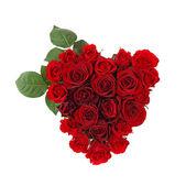 Corazón de rosas — Foto de Stock