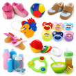 Baby goods collection — Stock Photo