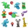 Animals made from child's play clay — Stock Photo