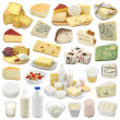 Stock Photo: Dairy products collection