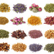 Flower and herbal tea collection - Foto Stock