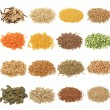 Stock Photo: Cereal,grain and seeds collection
