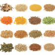 Cereal,grain and seeds collection — Stock Photo