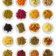 Marinated vegetables collection - Stock Photo
