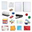 Office supply collection — Stock Photo