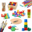 Stock Photo: Preschool objects collection