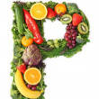 Fruit and vegetable alphabet — Stock Photo #5453355