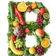 Fruit and vegetable alphabet — Stock Photo #5453405
