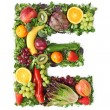 Fruit and vegetable alphabet — Stock Photo #5453426