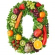 Fruit and vegetable alphabet — Stock Photo #5453431