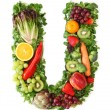 Fruit and vegetable alphabet - Stok fotoğraf