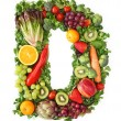 Fruit and vegetable alphabet — Stockfoto #5453447