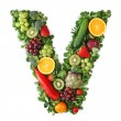 Fruit and vegetable alphabet — Stock Photo #5453450