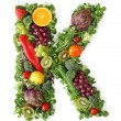 Fruit and vegetable alphabet — Stock Photo #5453541