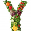 Fruit and vegetable alphabet — Stock Photo #5453573