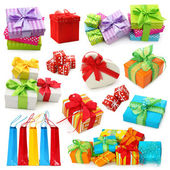Kolekcja pudła prezent — Zdjęcie stockowe