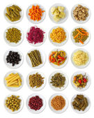 Marinated vegetables collection — Stock Photo