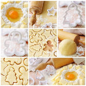 Baking ingredients for shortcrust pastry — Stock Photo
