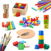 Preschool objects collection — 图库照片